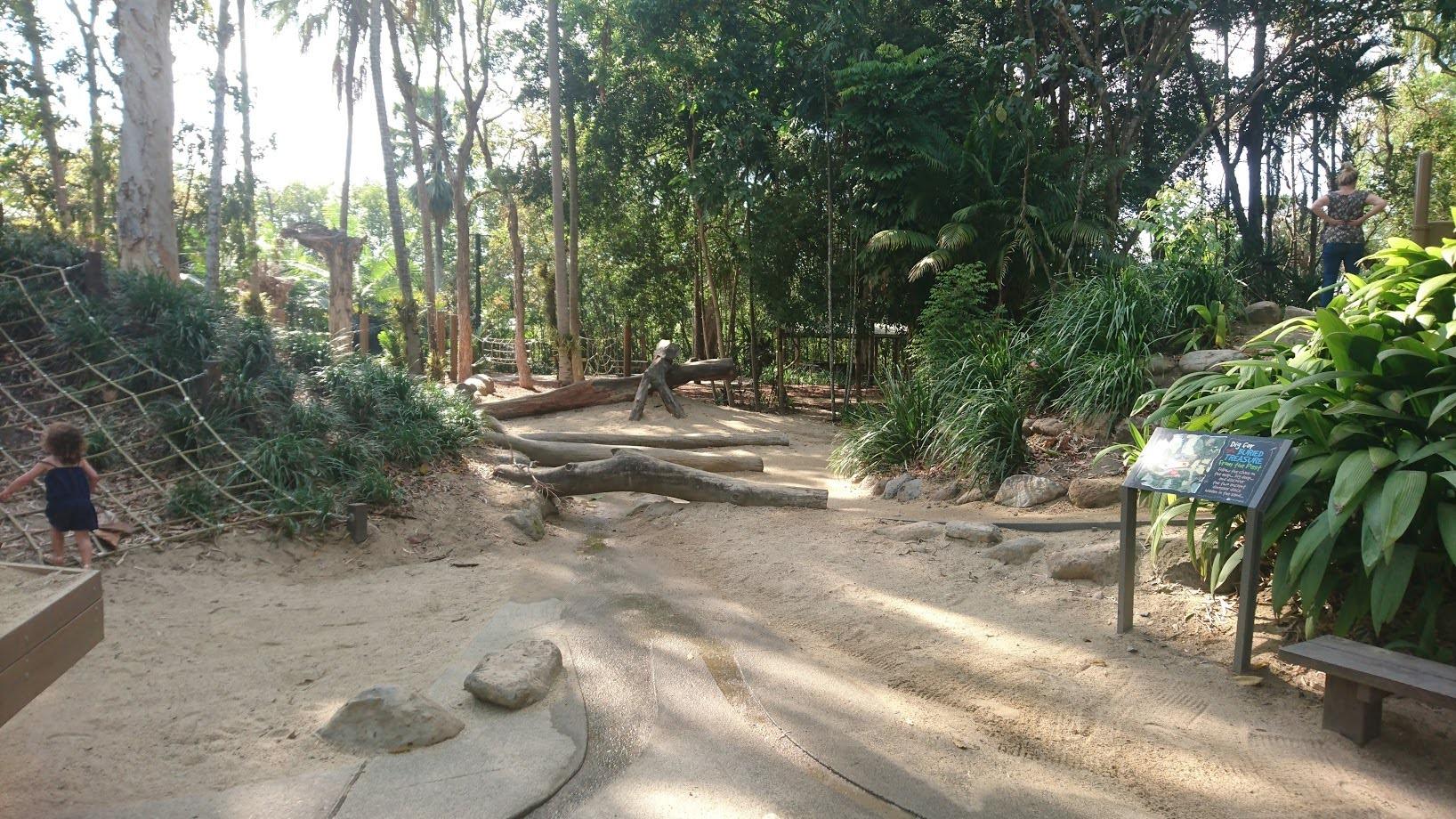 Centenary lakes playground view