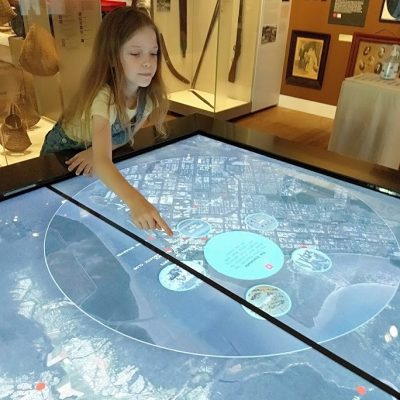 Interactive map at the Cairns Museum