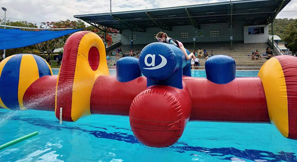 Inflatable fun at Smithfield Swimming pool