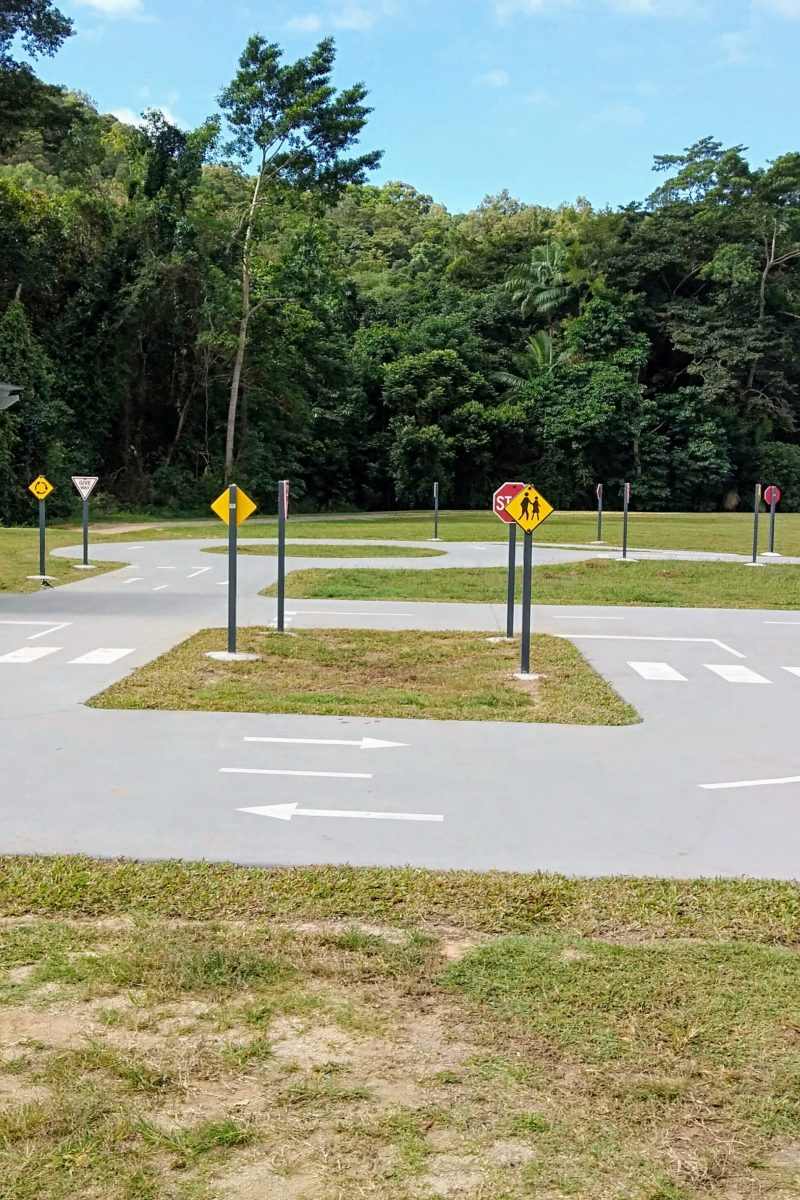 Stop sign at Kanimbla Road Safety Educational Facility